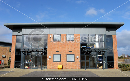 Modern office building stock photo, Modern office building on a business park. by Martin Crowdy