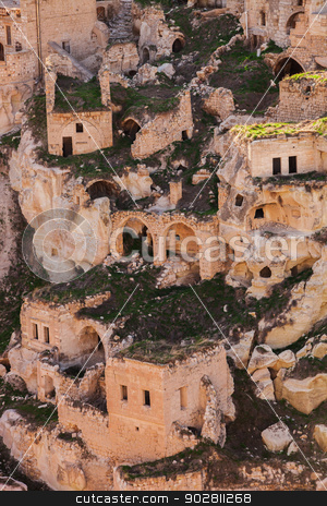 Cappadocia Turkey stock photo, Stone Dwellings in Cappadocia Turkey by Scott Griessel