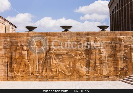 Relief at Mausoleum of Mustafa Kemal Atatürk stock photo, Relief at Mausoleum of Turkish Leader Mustafa Kemal Atatürk in Ankara by Scott Griessel
