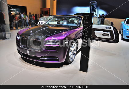 FRANKFURT - SEPT 14: Rolls-Royce Wraith presented as world premi stock photo, FRANKFURT - SEPT 14: Rolls-Royce Wraith presented as world premiere at the 65th IAA (Internationale Automobil Ausstellung) on September 14, 2013 in Frankfurt, Germany by Dmitry Orlov