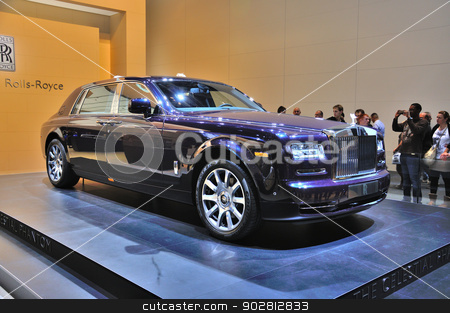 FRANKFURT - SEPT 14: Rolls-Royce Phantom presented as world prem stock photo, FRANKFURT - SEPT 14: Rolls-Royce Phantom presented as world premiere at the 65th IAA (Internationale Automobil Ausstellung) on September 14, 2013 in Frankfurt, Germany by Dmitry Orlov