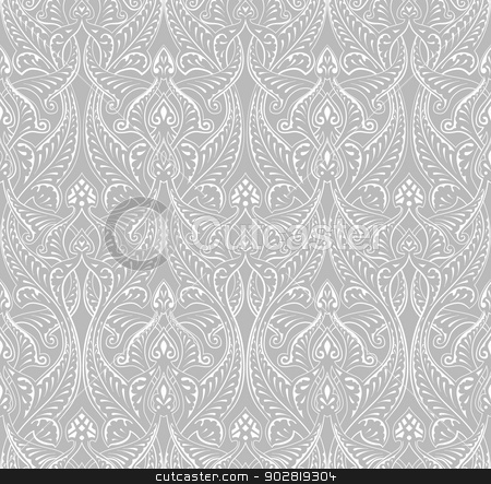 Vintage Islamic Motif Pattern stock vector clipart, An intricate vintage seamlessly tilable repeating Islamic motif pattern by Christos Georghiou