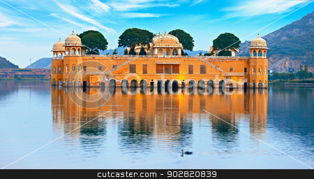 Water Palace at day - Jal Mahal Rajasthan, Jaipur, India stock photo, The Water Palace at day - Jal Mahal Rajasthan, Jaipur, India by Alexey Romanov