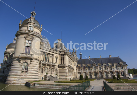 Chantilly castle, Picardie, France stock photo, Chantilly castle, Picardie, France by B.F.