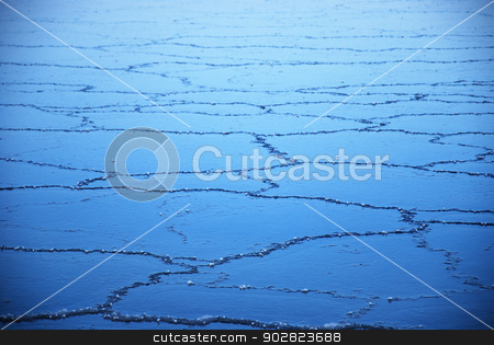 Ice pattern stock photo, Ice pattern of newly frozen ice. by Birgitta Kullman