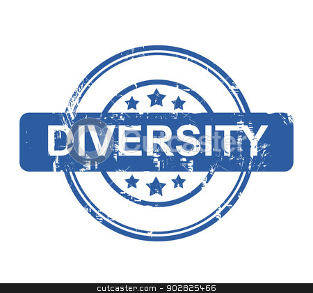 Business diversity stamp stock photo, Business diversity stamp with stars isolated on a white background. by Martin Crowdy
