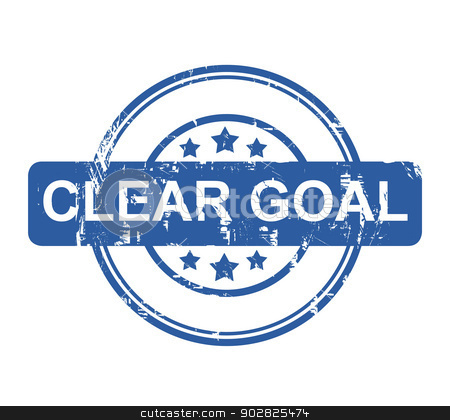 Clear Goal stock photo, Clear Goal business stamp with stars isolated on a white background. by Martin Crowdy