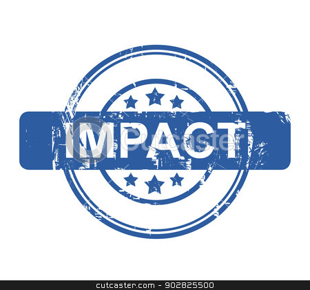 Impact stock photo, Business impact stamp with stars isolated on a white background. by Martin Crowdy