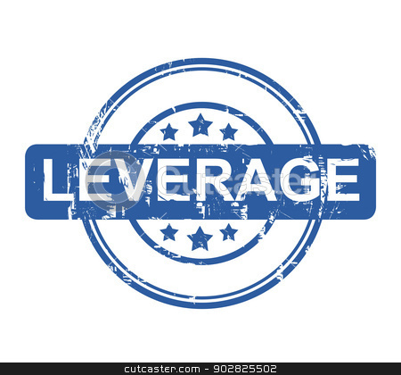 Leverage stock photo, Leverage business stamp with stars isolated on a white background. by Martin Crowdy