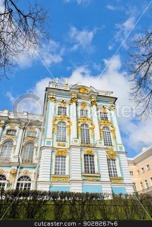 Catherine Palace, Russia  stock photo, Part of Catherine Palace at Tsarskoye Selo (Pushkin), Russia  by boonsom