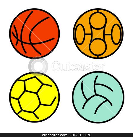 Set sport balls. Vector illustration stock vector clipart, Set sport balls. Vector illustration by aarrows