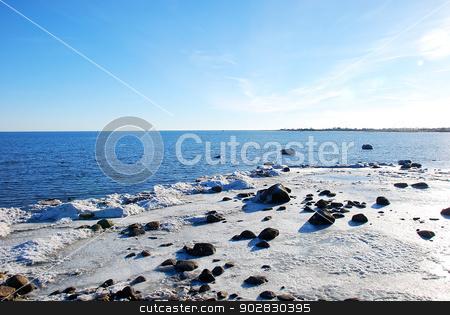 The ice has broken up stock photo, The ice has broken up at the coast of the Baltic Sea in Sweden. by Birgitta Kullman