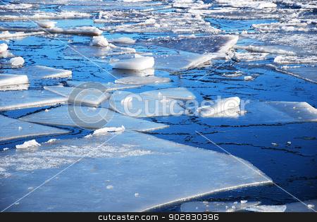 Ice floe stock photo, Ice floe at the coast of the Swedish island Oland in Sweden. by Birgitta Kullman