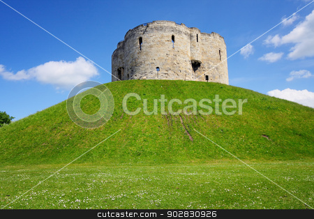 Clifford's Tower at York stock photo, Clifford's Tower at York by WDGPhoto