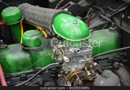 green car engine stock photo, green car engine by antonihalim