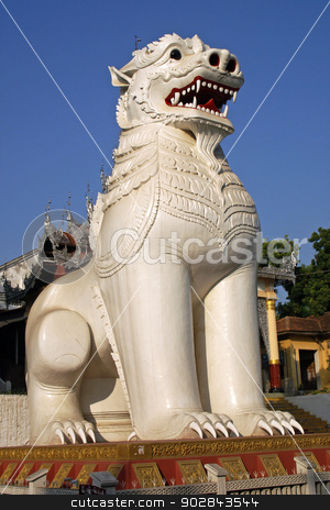 Chinthes, Mandalay, Myanmar stock photo, The beautiful chinthes are the guards of the Mandalay Hill. Photo was taken in Mandalay, Myanmar. by Alexander Ludwig