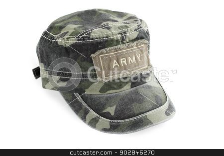 the army cap stock photo, the army cap of the shielding color by Iuliia   Malivanchuk