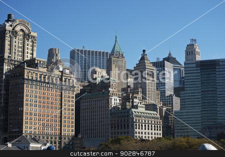 Lower Manhattan stock photo, View of Lower Manhattan in New York City.. by WScott