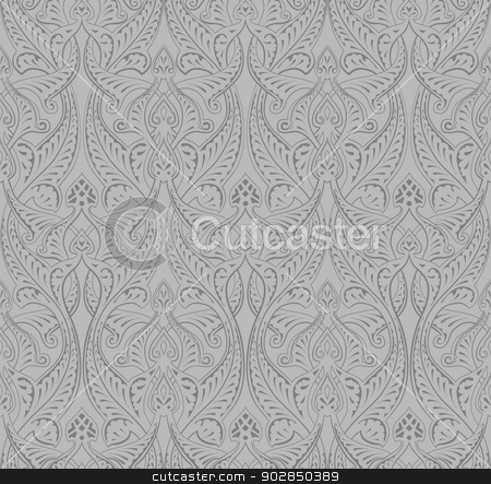 Vintage  Middle Eastern Arabic Pattern stock vector clipart, Vintage intricate seamless background tile based on Middle Eastern Arabic motif pattern by Christos Georghiou