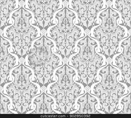 Vintage Islamic Motif Pattern stock vector clipart, Illustration of an intricate seamlessly tilable repeating Islamic motif vinatge pattern by Christos Georghiou