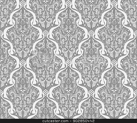 Middle Eastern Arabic Pattern stock vector clipart, Intricate seamlessly tilable repeating Middle Eastern Arabic background pattern by Christos Georghiou