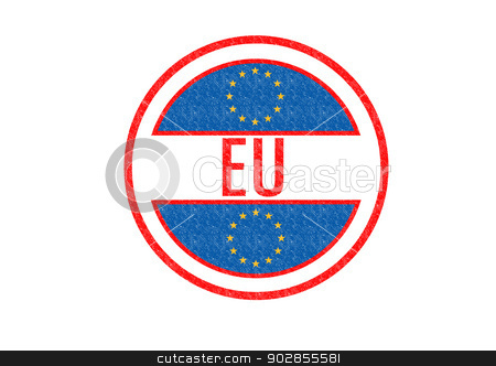 European Union stock photo, EU (EUROPEAN UNION) Rubber stamp over a white background. by Chris Dorney