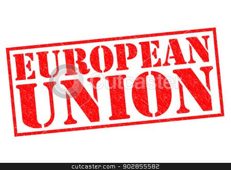 EUROPEAN UNION stock photo, EUROPEAN UNION Rubber stamp over a white background. by Chris Dorney