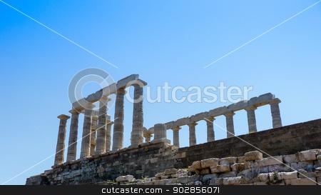 Temple of Poseidon in Sounio Greece stock photo, Temple of Poseidon in Sounio Greece by ANTONIOS KARVELAS