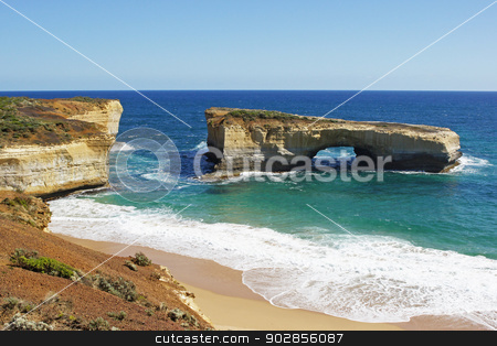 Great Ocean Road, Australia stock photo, London Bridge, Port Campbell National Park, Great Ocean Road, Victoria, Australia by Alexander Ludwig