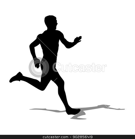 Running silhouettes. Vector illustration. stock vector clipart, Running silhouettes. Vector illustration. by aarrows