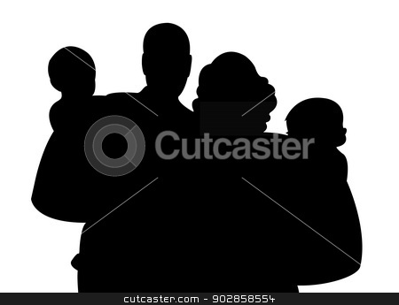 A Family Portrait Stock Vector
