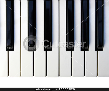 Closeup detail of a piano keyboard. stock photo, Closeup detail of a piano keyboard. by doraclub