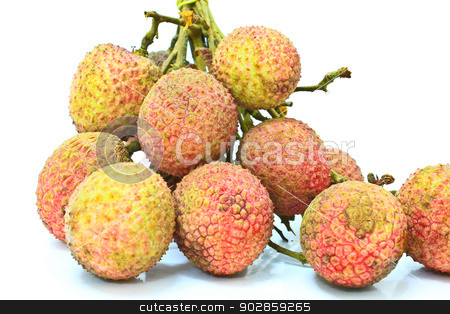Lychee fruit. stock photo, Lychee isolated on white background by forest71