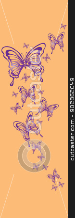 butterflies stock vector clipart, butterflies by Copceac Oleg