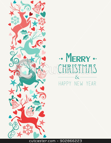 similar images merry christmas and happy new year greeting card