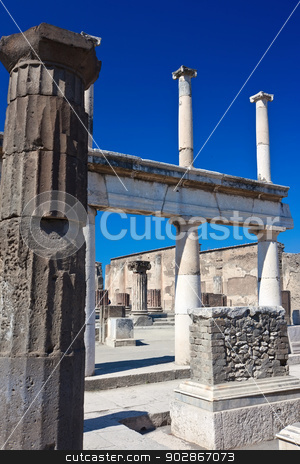 Pompeii stock photo, Famous ruins of ancient town Pompeii in Italy by Alexey Popov
