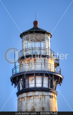 Pigeon Point Lighthouse stock photo, Pigeon Point Lighthouse Close-up by Ken Wolter