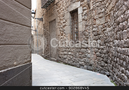 Barrio Gotico stock photo, Ancient streets of Gotic quarter in Barcelona, Spain by Alexey Popov
