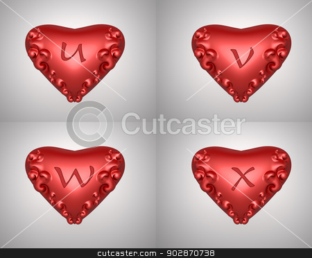valentine text stock photo, heart illustration text  for valentine day background by apichart