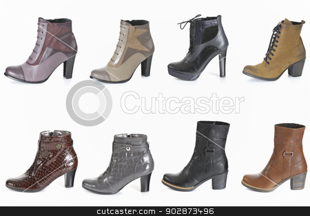 Different types of woman boot stock photo, Different types of woman boot by Iordache Magdalena