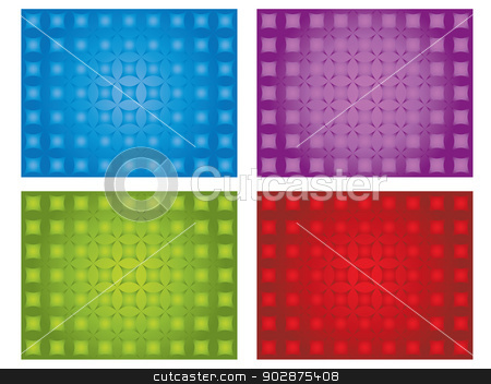 Cool textures stock vector clipart, Cool texture set on white in different colors by Mihaly Pal Fazakas