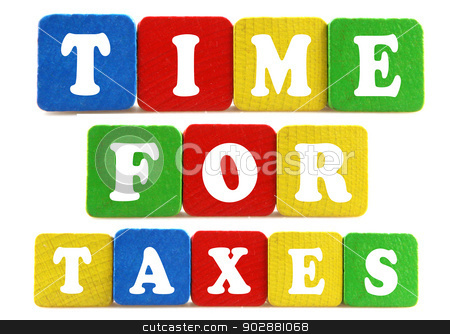 time for taxes concept stock photo, time for taxes concept by Nenov Brothers Images