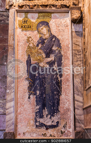 Jesus and Mary Mosaic in Chora Church stock photo, Jesus and Mary Mosaic in Istanbul Chora Church by Scott Griessel