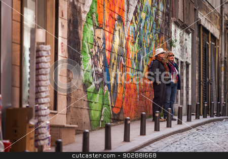 American Tourists in Istanbul stock photo, Two American Tourist Women in Istanbul by Scott Griessel