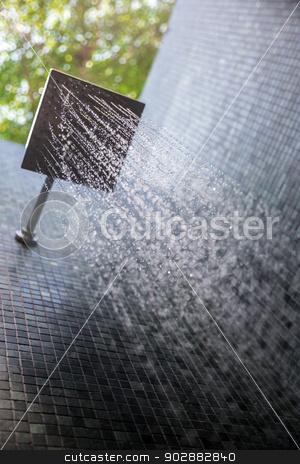 Rain shower stock photo, water from rain shower outdoor by Vichaya Kiatying-Angsulee