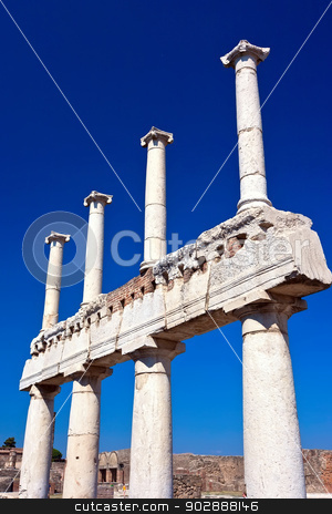Pompeii stock photo, Famous ruins of ancient town Pompeii in Italy by Alexey Popov