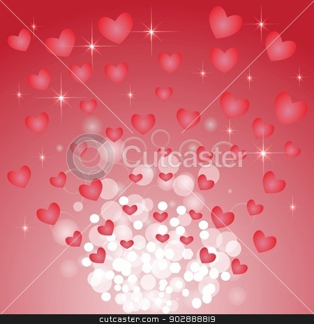 abstract heart background stock vector clipart, colorful illustration with  abstract heart background for your design by valeo5