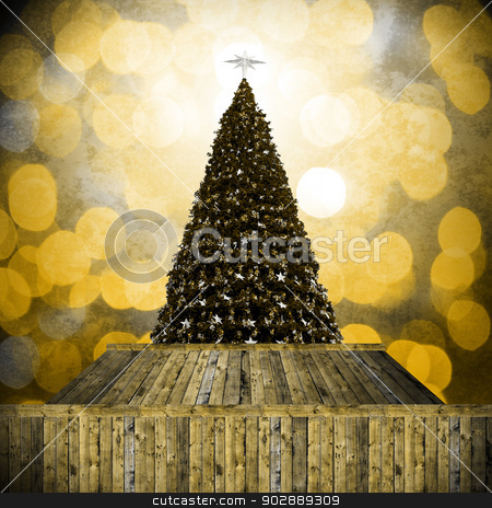 Christmas tree in Retro style stock photo, Christmas tree in Retro style by pixbox77