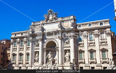 Fountain di Trevi stock photo, Fountain di Trevi - most famous fountain in Rome, Italy by Alexey Popov