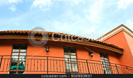 architecture detail with lamps and windows stock photo, architecture detail with lamps and windows by doraclub
